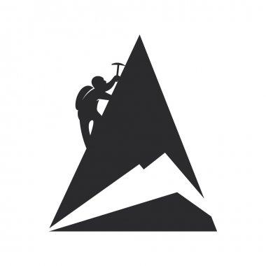 Mountain climber. Vector illustration.