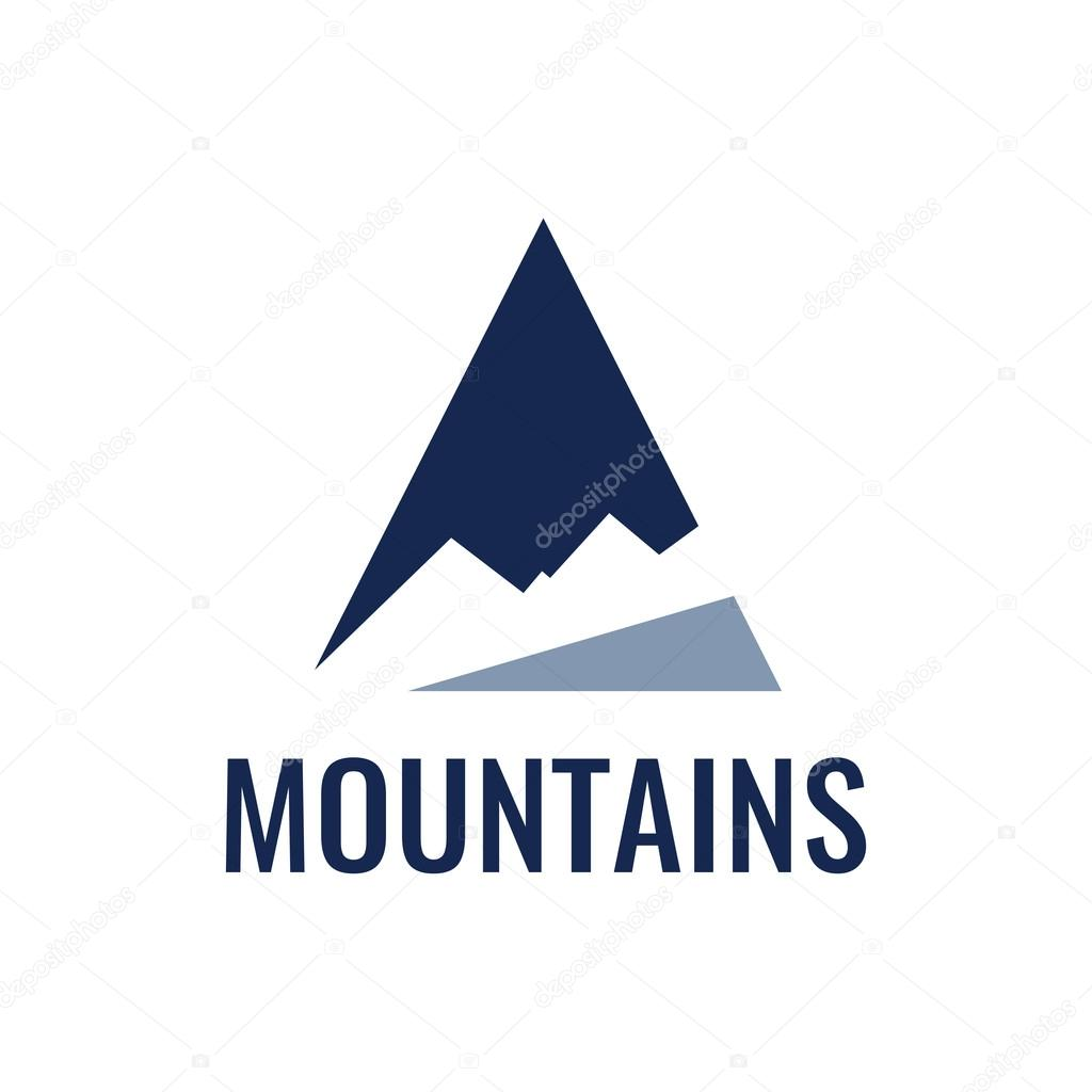 Mountain icon, vector illustration.