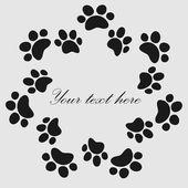 Fotografie Katze-Pfote Drucke Rahmen für Ihren Texthintergrund, Vektor
