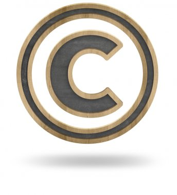 Copyright sign isolated on white