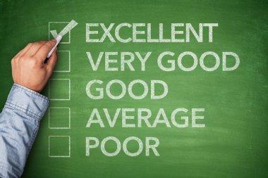 Excellent result on survey on blackboard