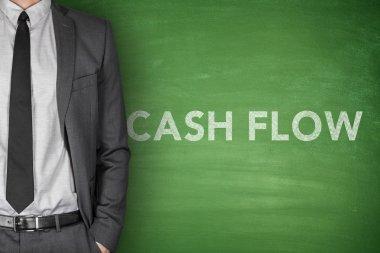 Cash flow on blackboard
