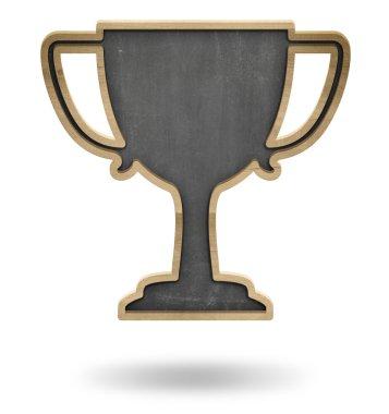 Black winner cup shape blackboard