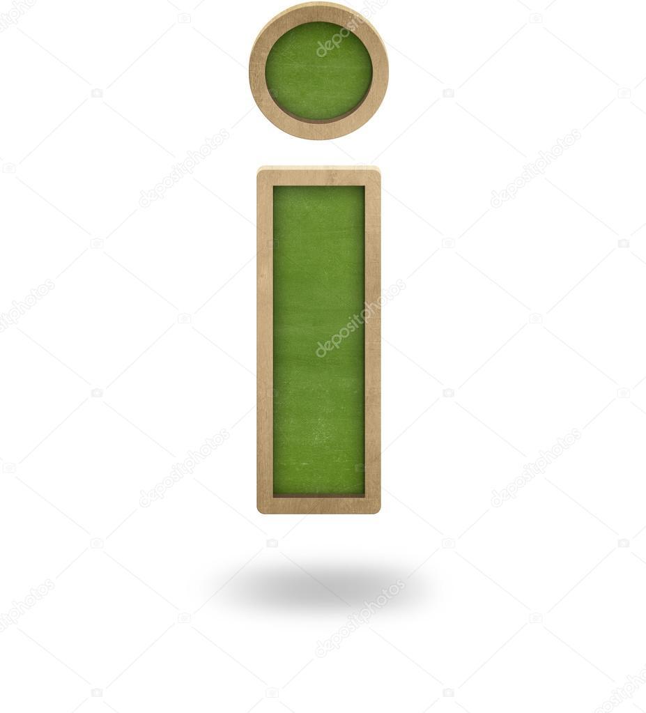 Grüne Leeren Brief Gestalten Ich Tafel Stockfoto Info At Crashmedia