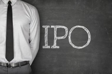 IPO or Initial public offering text
