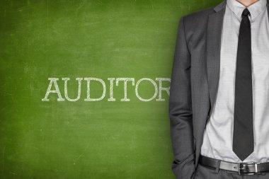 Auditor on blackboard