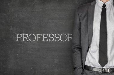 Professor on blackboard