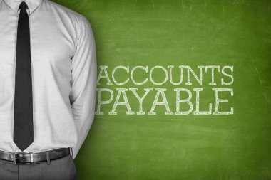 Accounts payable text on blackboard