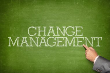 Change management text on blackboard