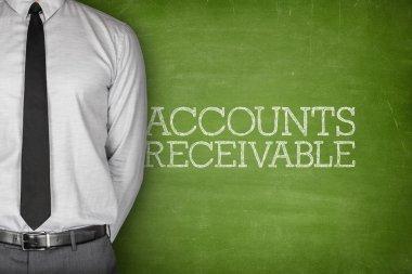 Accounts receivable text on blackboard