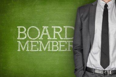 Board member on blackboard