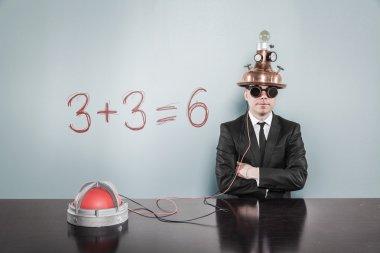 Mathematics concept with businessman