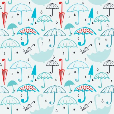 pattern of umbrellas and drops 2