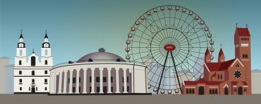 daily architecture of city Minsk