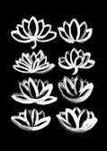 Dry brush  lotus set