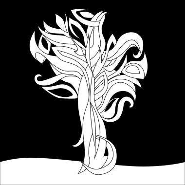 black&white magic tree
