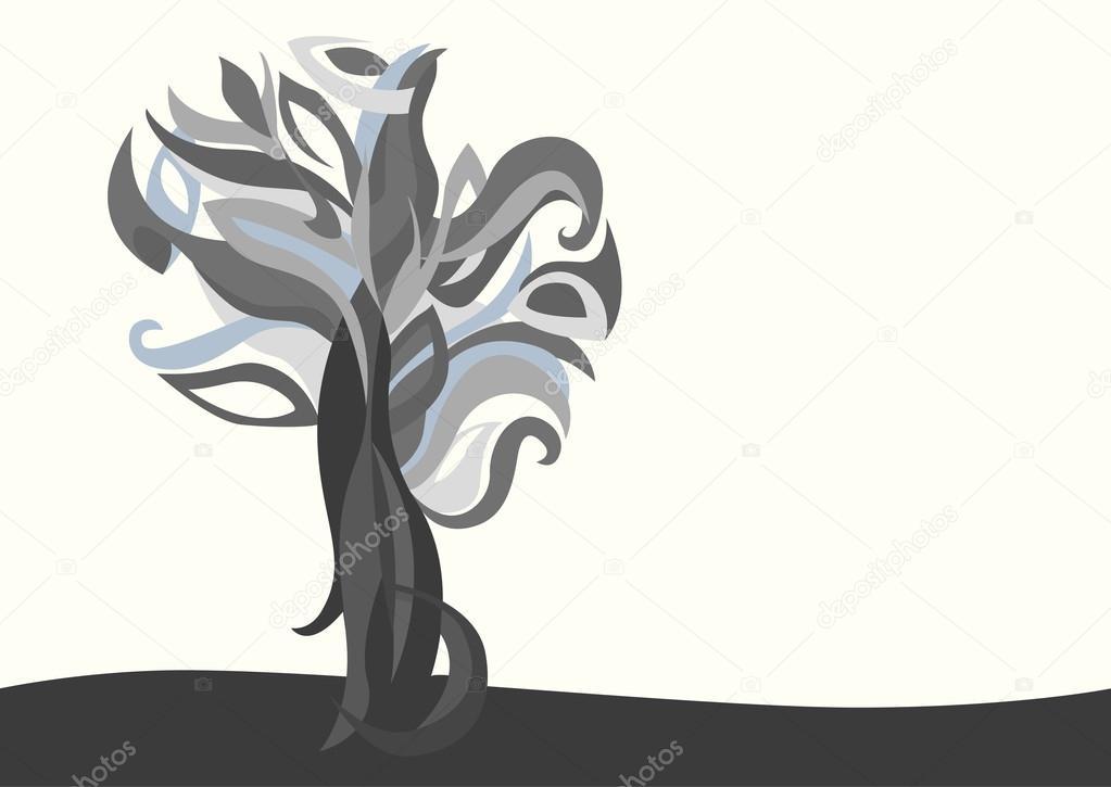 gray magic tree