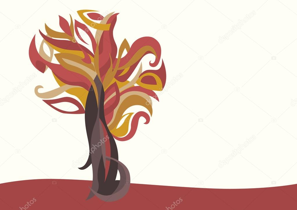 red magic tree