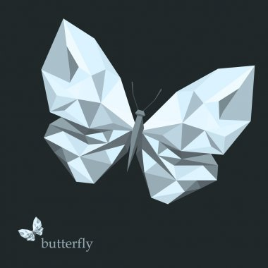 low poly butterfly