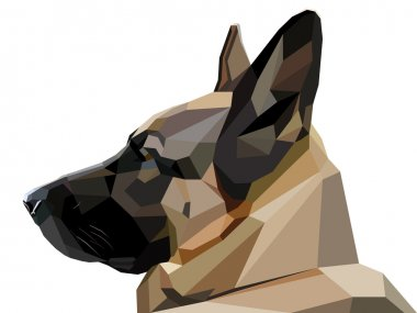 low poly shepherd snout