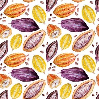 Watercolor cocoa pattern