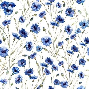 """Картина, постер, плакат, фотообои """"синие цветы 9 """", артикул 58105035"""