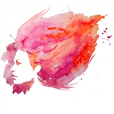 watercolor, girl, portrait doodle, creative, lady, creativity, illustration,