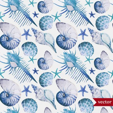 Ocean pattern watercolor background