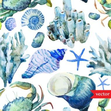 ocean pattern watercolor wallpaper