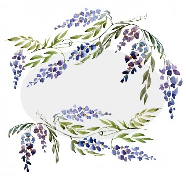 Watercolor wisteria texture
