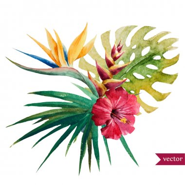 "Картина, постер, плакат, фотообои ""Nice тропические цветы"", артикул 67683615"