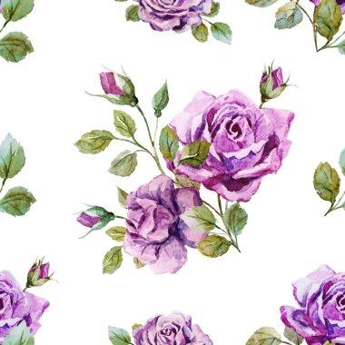 Gentle roses pattern