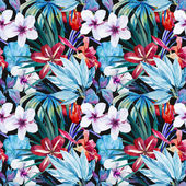 Fotografie Lily an hibiscus flower pattern