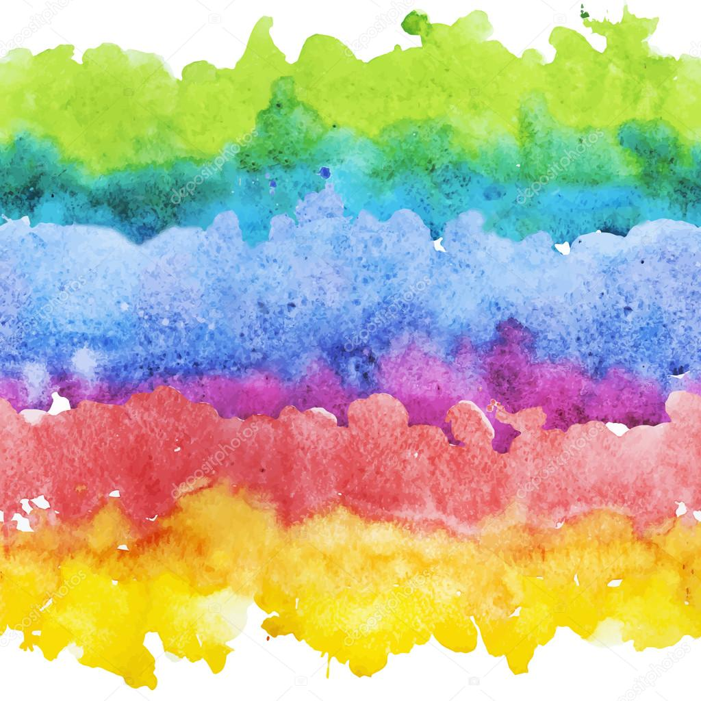 Watercolor colourful stripes