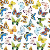 Photo Watercolor butterfly pattern