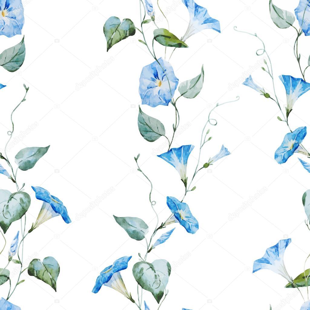 Gentle watercolor floral pattern