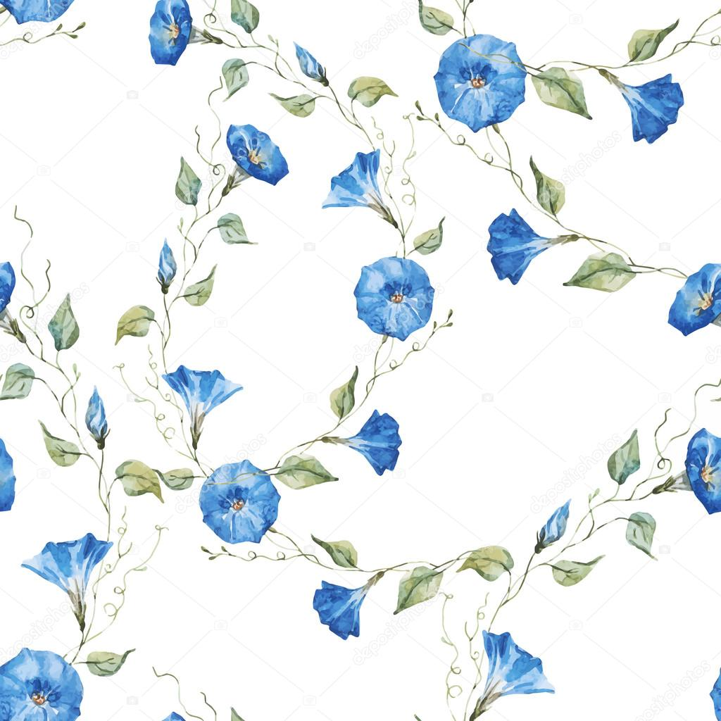 Gentle watercolor floral pattern