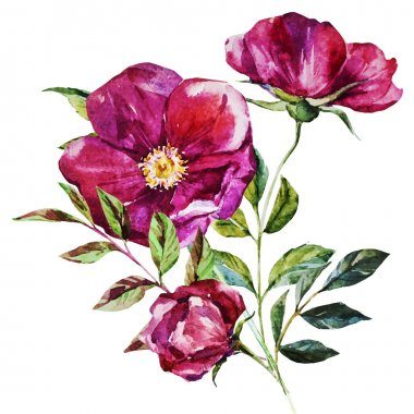 """Картина, постер, плакат, фотообои """"цветы акварели сирень природа лилии"""", артикул 76871213"""