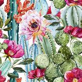 Vzorek akvarel kaktus