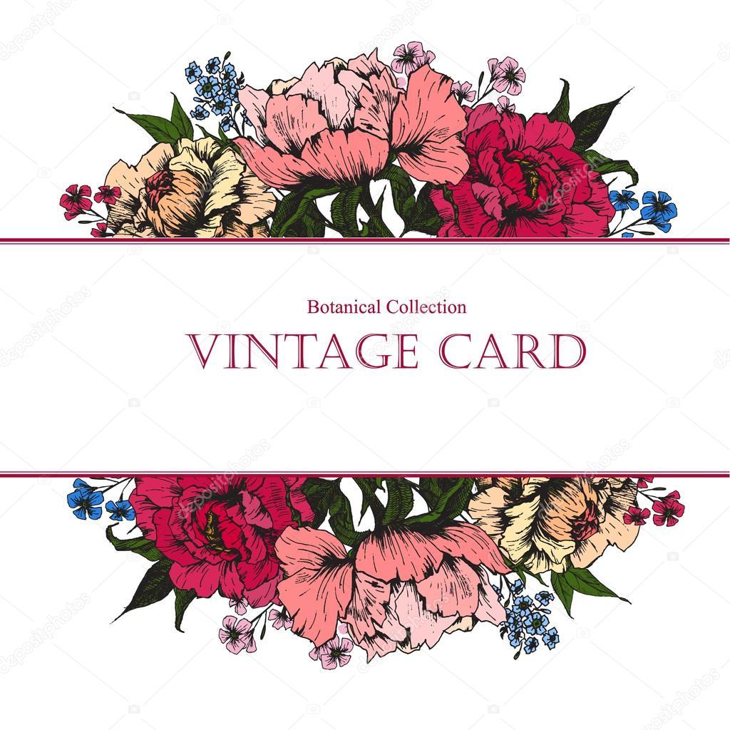 Vintage Floral Vector Card Stock Vector C Zeninaasya 82762058