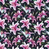 Raszteres trópusi akvarell lilly minta
