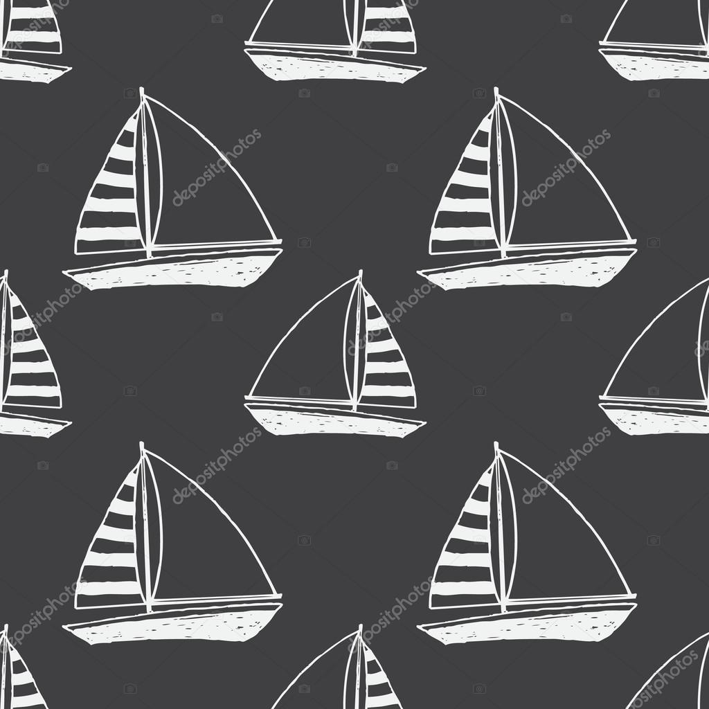 Vector yacht pattern