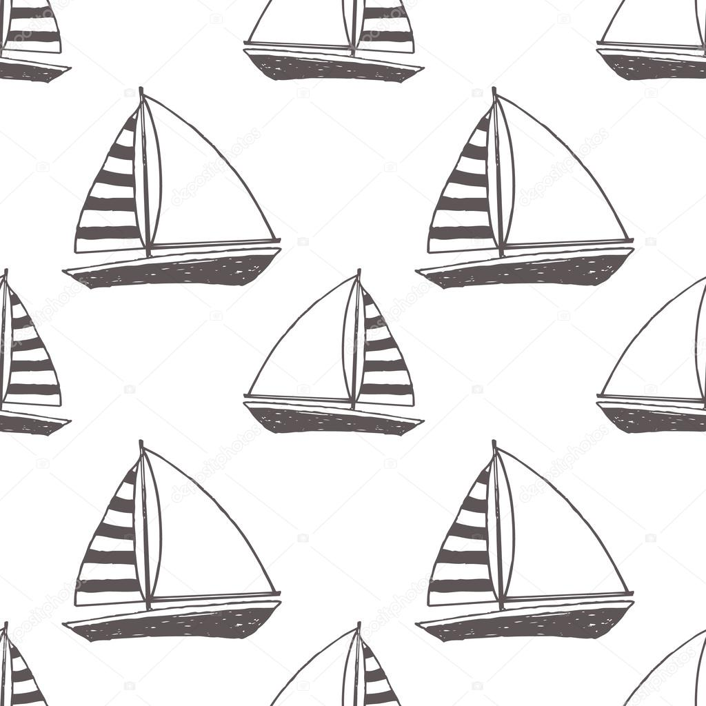 Vector yacht pattern