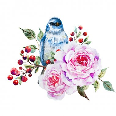 Nice raster watercolor birds