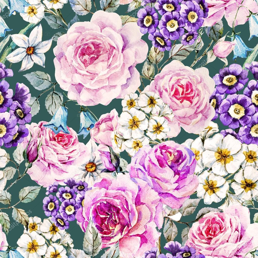 Raster floral pattern
