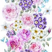 Fotografie Vector floral pattern