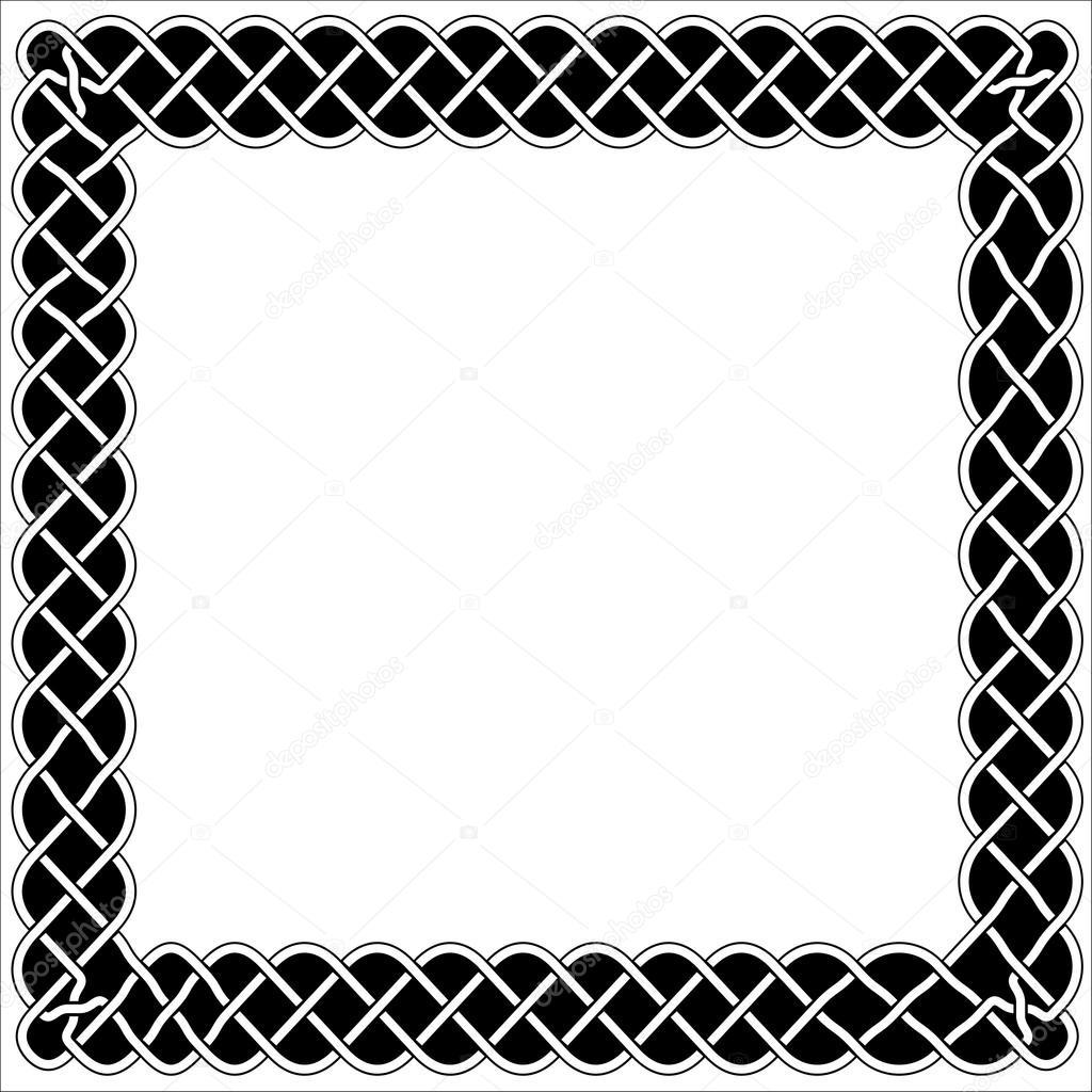 Marcos, bordes y blanco y negro estilo celta o Árabe — Archivo ...