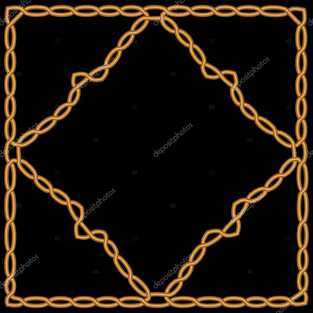 Oro diamante tejido en un marco de oro con un ornamento celta o ...