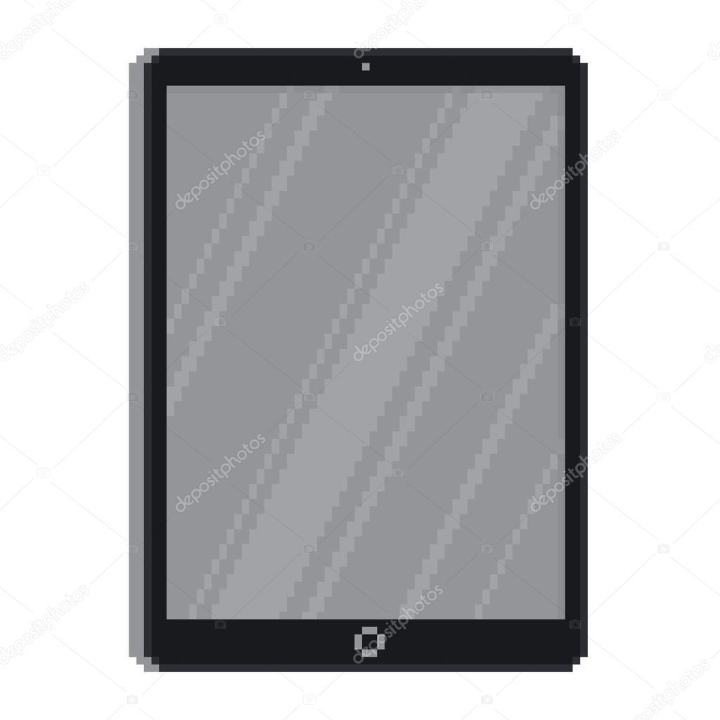 Pixel Art Style Tablet Stock Vector Dmitriylo 108765406