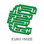 Fotografie Euro business isometric green maze vector